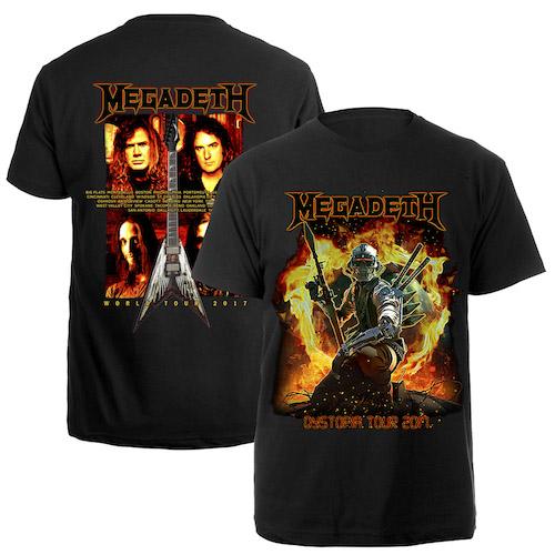 Megadeth Vic 2017 Tour Itin Tee