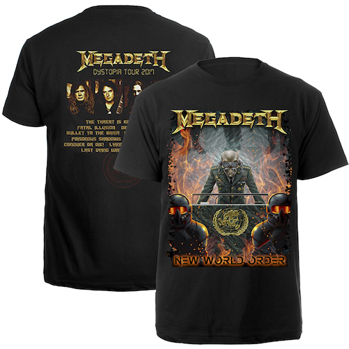 Megadeth New World Order 2017 Tour Tee