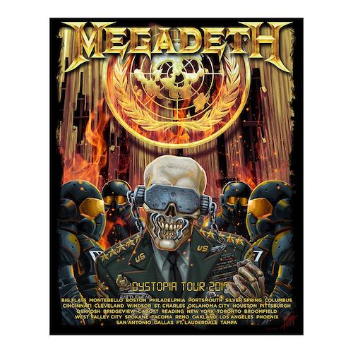 Megadeth General Vic 2017 Tour Poster