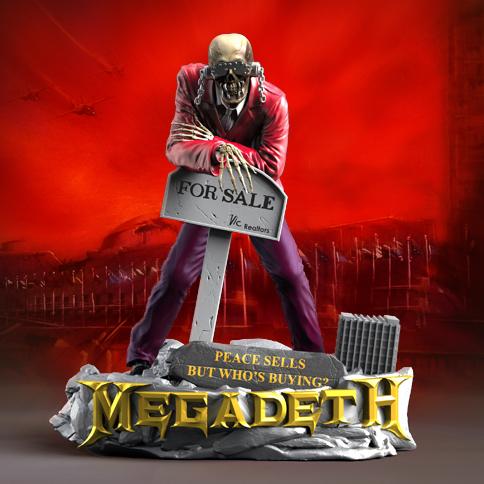 Megadeth Vic Rattlehead Rock Iconz Statue