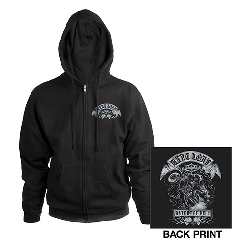 Bat out of Hell Zip up Hoody
