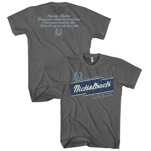 Nickelback Logo/Lyrics Charcoal T-shirt