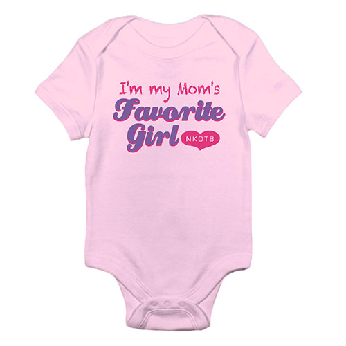 Mom's Favorite Girl Baby Onesie