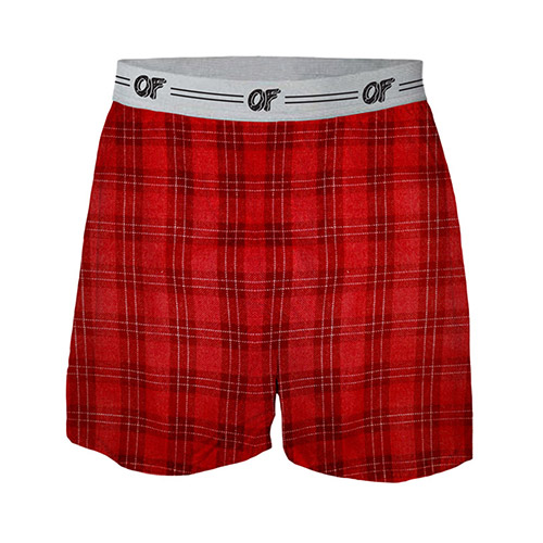 OF LOGO PLAID BOXERS