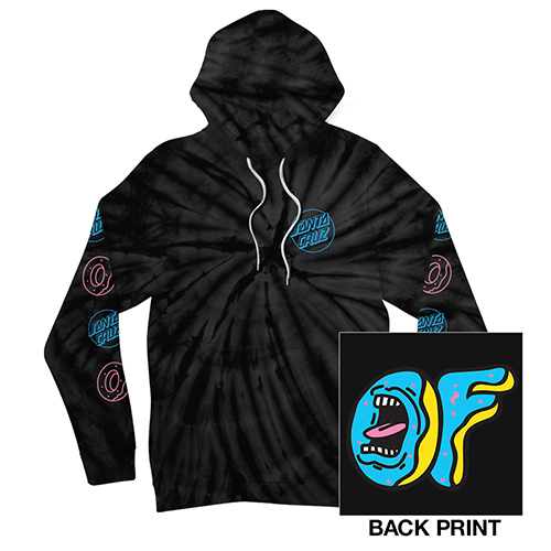SANTA CRUZ/SCREAMING OF LOGO TIE-DYE HOODIE