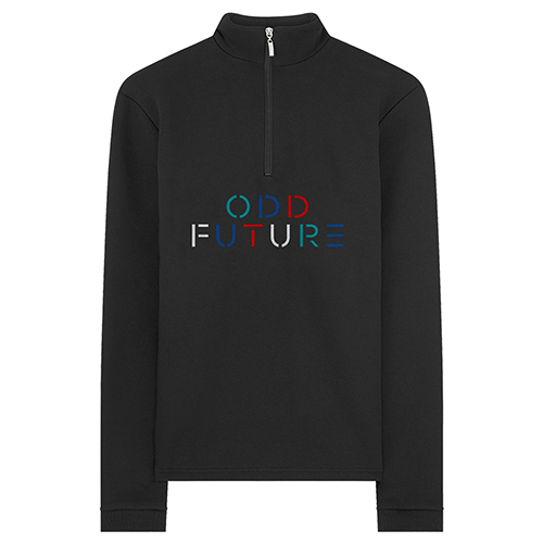 ea10375dd77bad ODD FUTURE STENCIL HALF ZIP