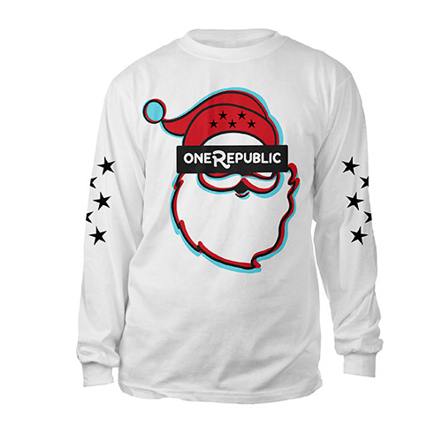 OneRepublic Long Sleeve Santa T-Shirt