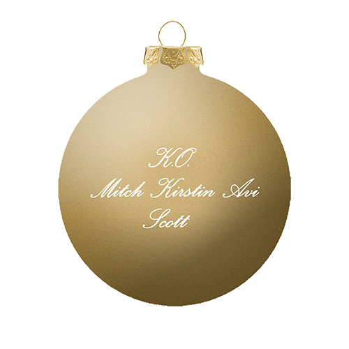 'A Pentatonix Christmas' Gold Ornament