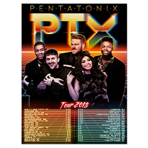 Band Photo Tour 2018 Poster