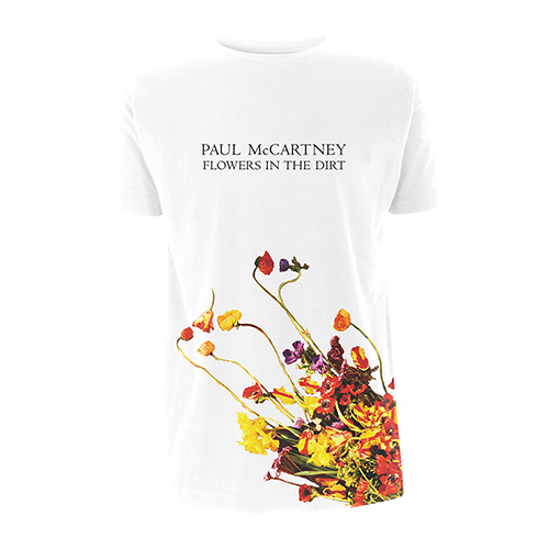 Flowers In The Dirt Hem Print White T-shirt
