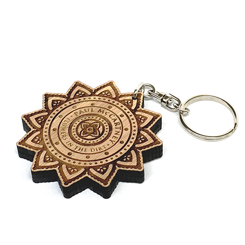 Flowers In The Dirt Wooden Keyring