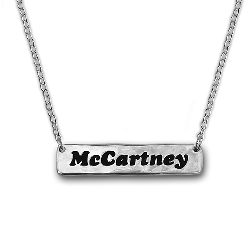 McCartney Silver Bar Necklace