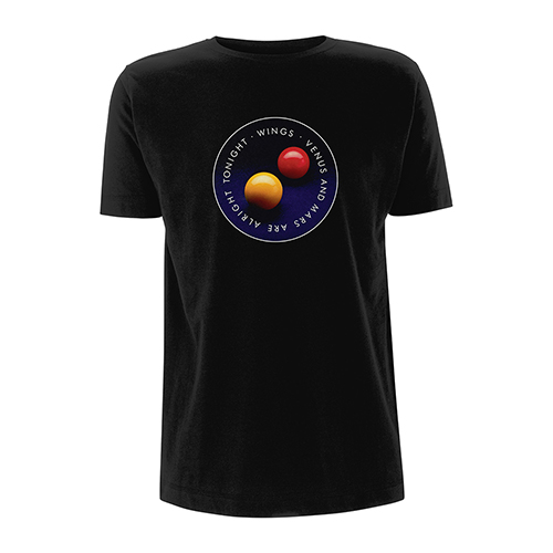Venus And Mars Black T-shirt