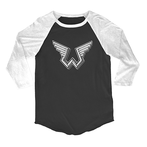 Wings W Logo White/Black Raglan