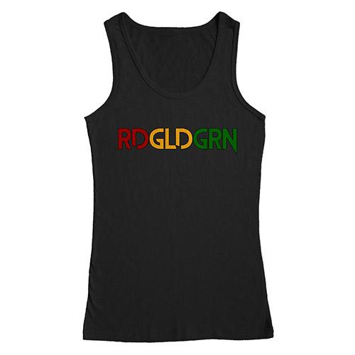 RDGLDGRN unisex black tank top