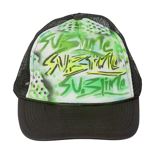Yellow green Sublime (black/white trucker)