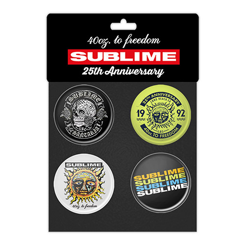 Sublime 25th Anniversary 4pc Button Set