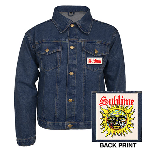 Sublime Men's Denim Jacket with Patches