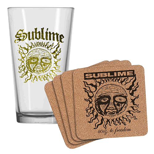 Sublime Pint Glass & Coaster Set