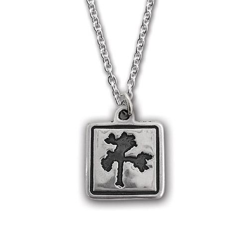 The Joshua Tree Square Silver Pendant