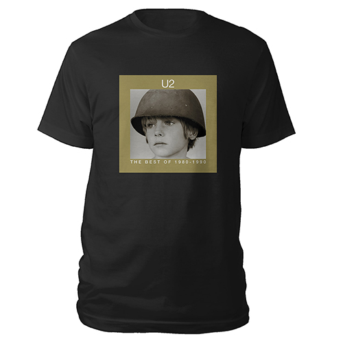 U2 Best of 1980-1990 Black T-shirt