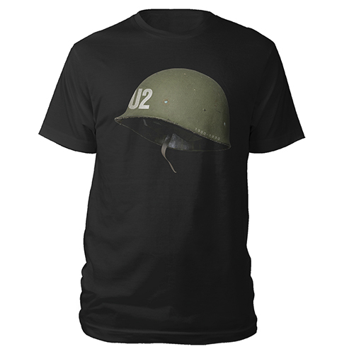 U2 Helmet Black T-shirt