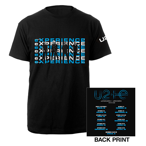 U2 eXPERIENCE + iNNOCENCE European Tour Black Unisex T-shirt
