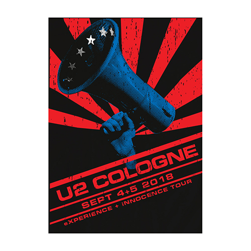 U2 eXPERIENCE + iNNOCENCE Cologne Event Screenprint