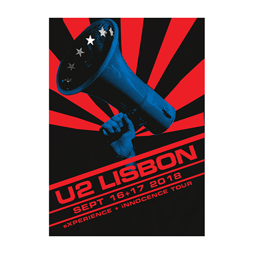 U2 eXPERIENCE + iNNOCENCE Lisbon Event Screenprint