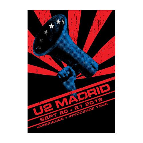 U2 eXPERIENCE + iNNOCENCE Madrid Event Screenprint