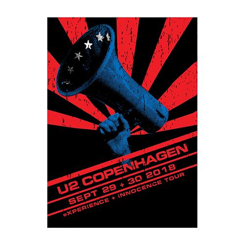 U2 eXPERIENCE + iNNOCENCE Copenhagen Event Screenprint