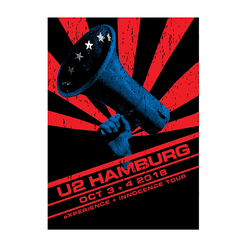 U2 eXPERIENCE + iNNOCENCE Hamburg Event Screenprint