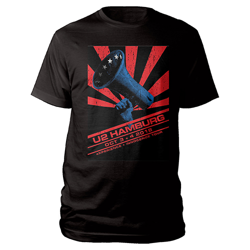 U2 eXPERIENCE + iNNOCENCE Hamburg Event T-shirt