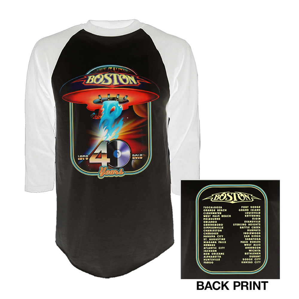 Boston Official Store 40th Anniversary Raglan T Shirt