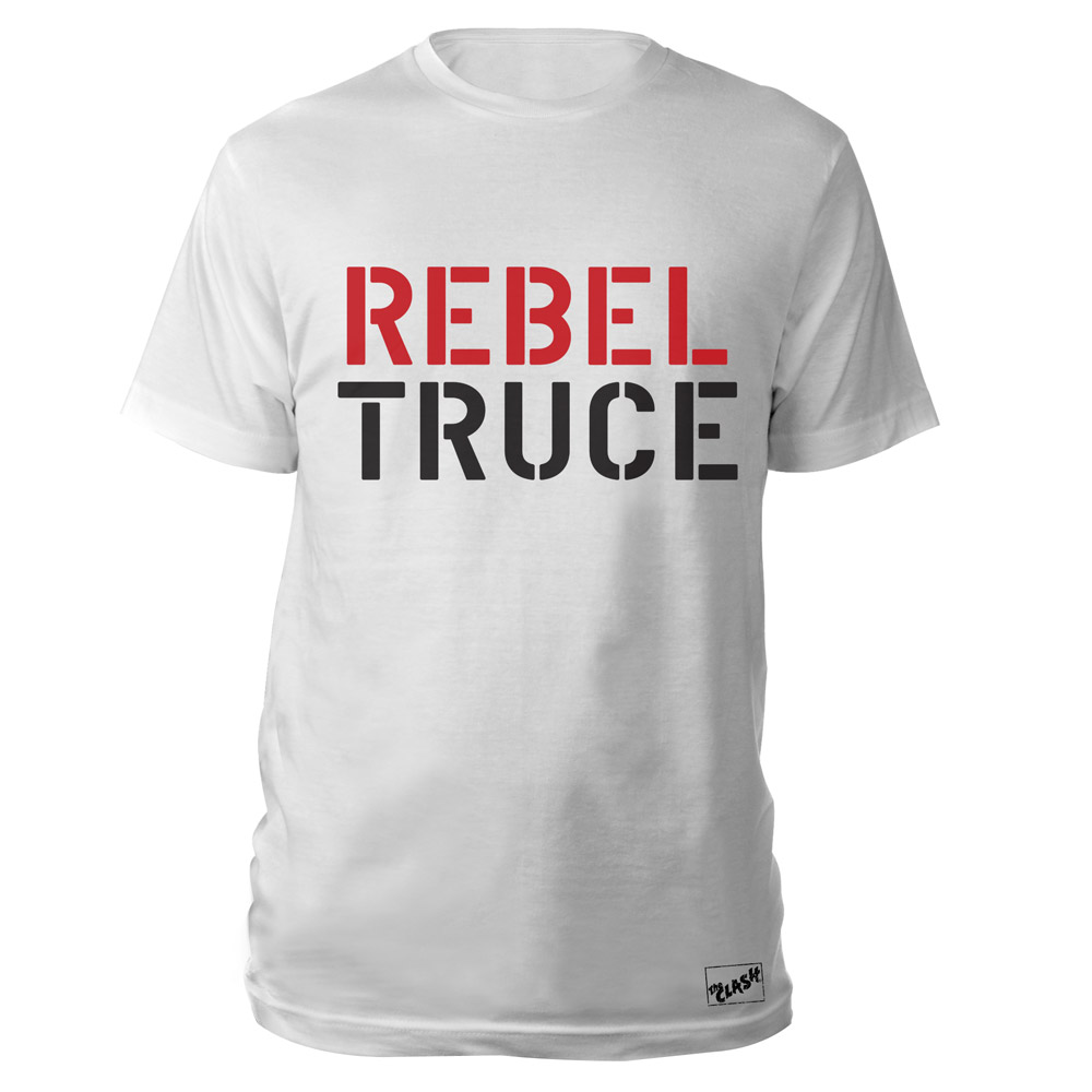 The Clash Official Store The Clash Wht Rebel Truce T Shirt