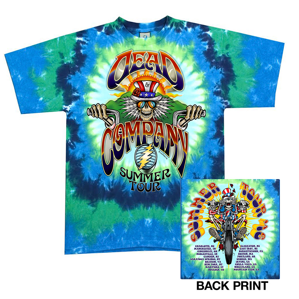 Dead Company Official Store Tie Dye Motorcycle Tee