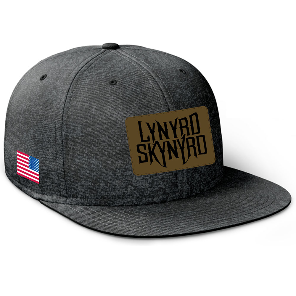 bd1da48e1238d Lynyrd Skynyrd Leather Patch Wool Hat