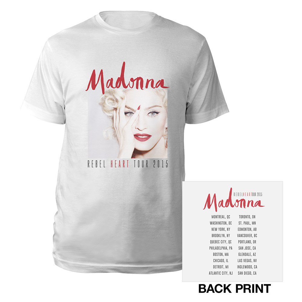071761930 Madonna Official Store | Rebel Heart Photo/US Tour Tee
