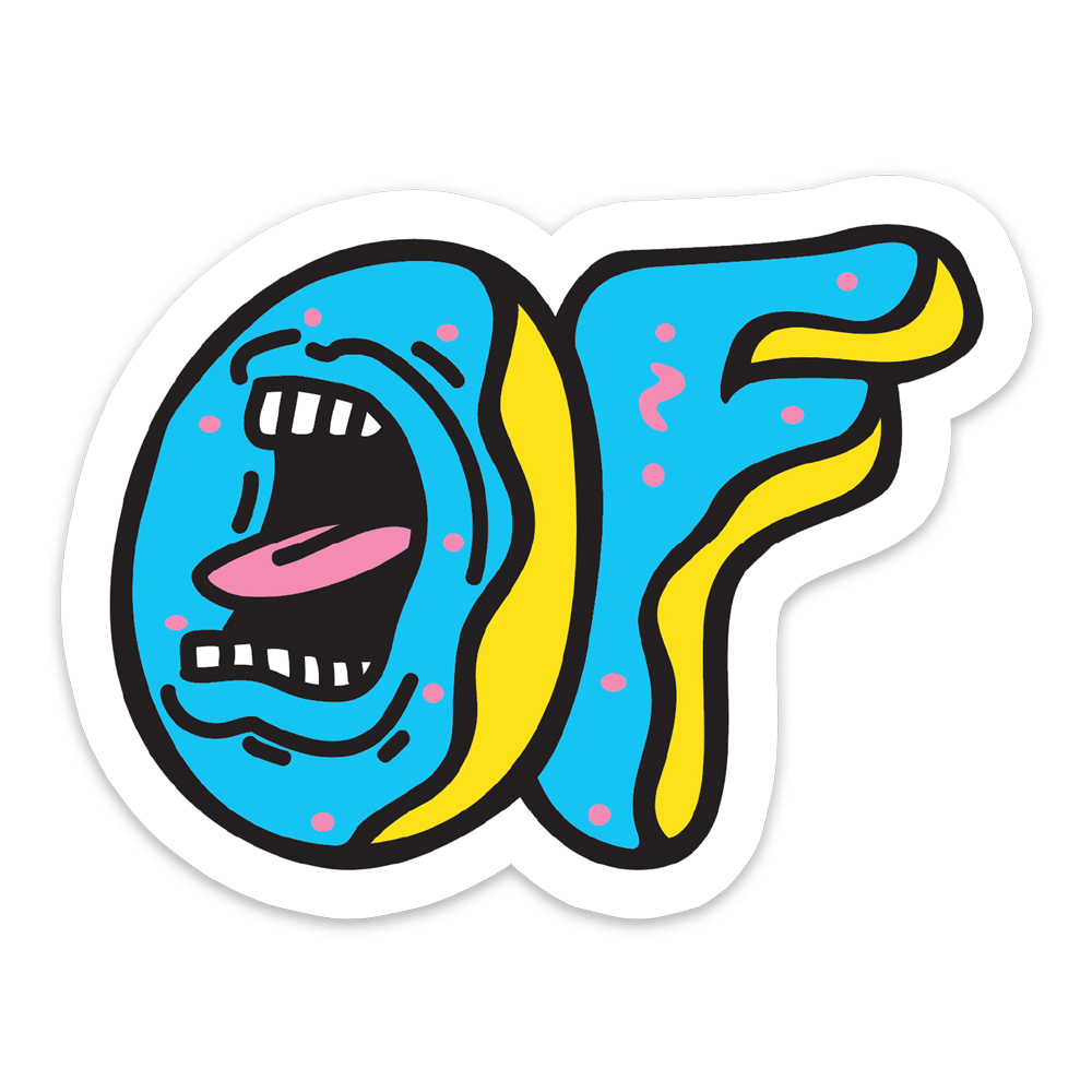 odd future official store screaming of x santa cruz sticker