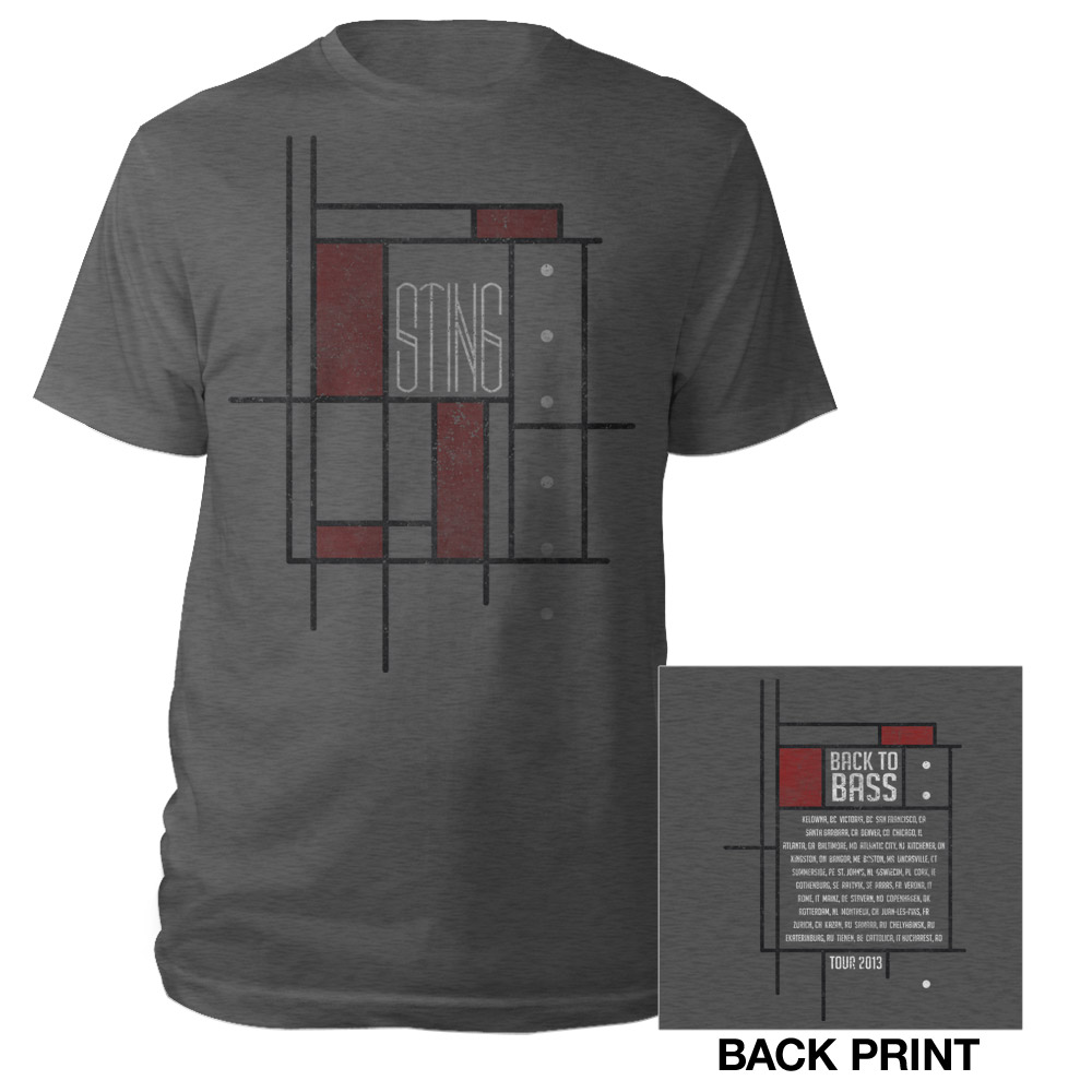 Sting Official Store Sting Back To Bass Geometric Shirt