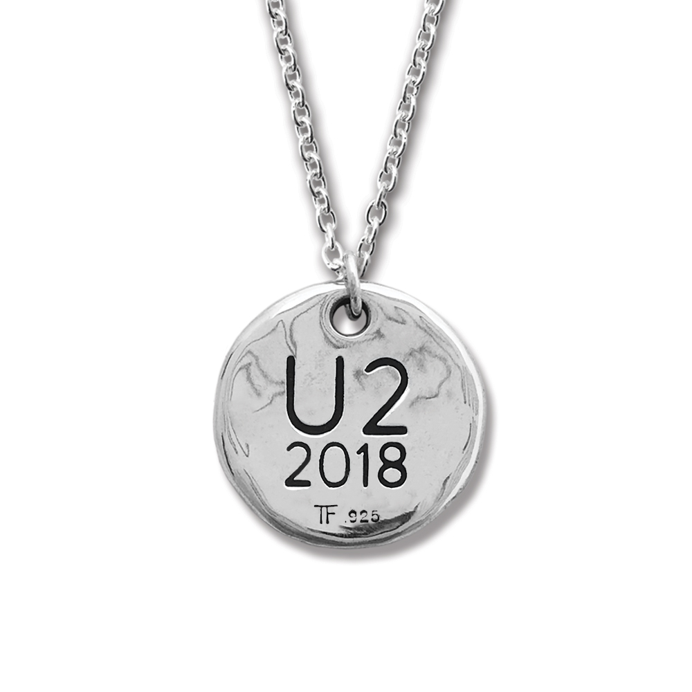 U2 Official Store | Songs of Experience Round Silver Pendant