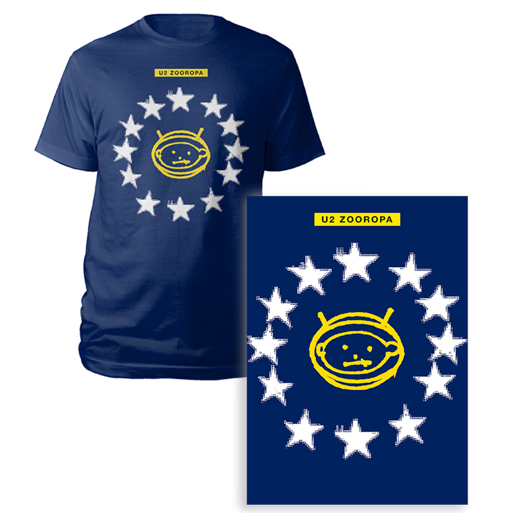 U2 Official Store Limited Edition Zooropa Screen Print T Shirt