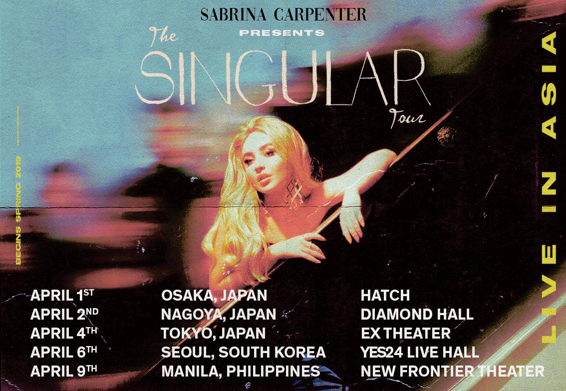 Sabrina Carpenter | News | Sabrina announces 2019 Asia Tour