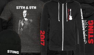 106c104aa81 Now available online! Check out the line of 57th & 9th Tour Merchandise.  Tees, hoodies, hats, and more.