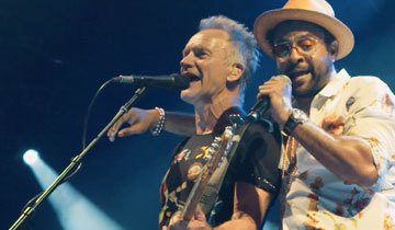 0864edb6107ab Following the release of their well-received collaborative album, 44/876,  Sting and Shaggy took their unlikely partnership on the road. Wednesday  (Sept.