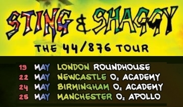 ec8f6954068d74 Only three days to go until Sting   Shaggy begin their UK dates in London
