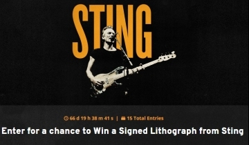 7a62000016690 If you are in the USA or Canada you might like to enter Tunespeak's contest  to win a Signed Lithograph from Sting. For details of how to enter visit ...