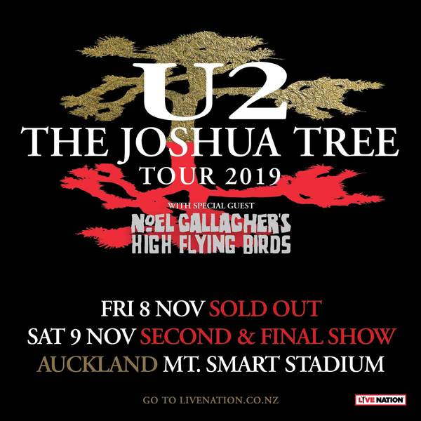 U2 > News > New Shows Announced: The Joshua Tree Tour 2019