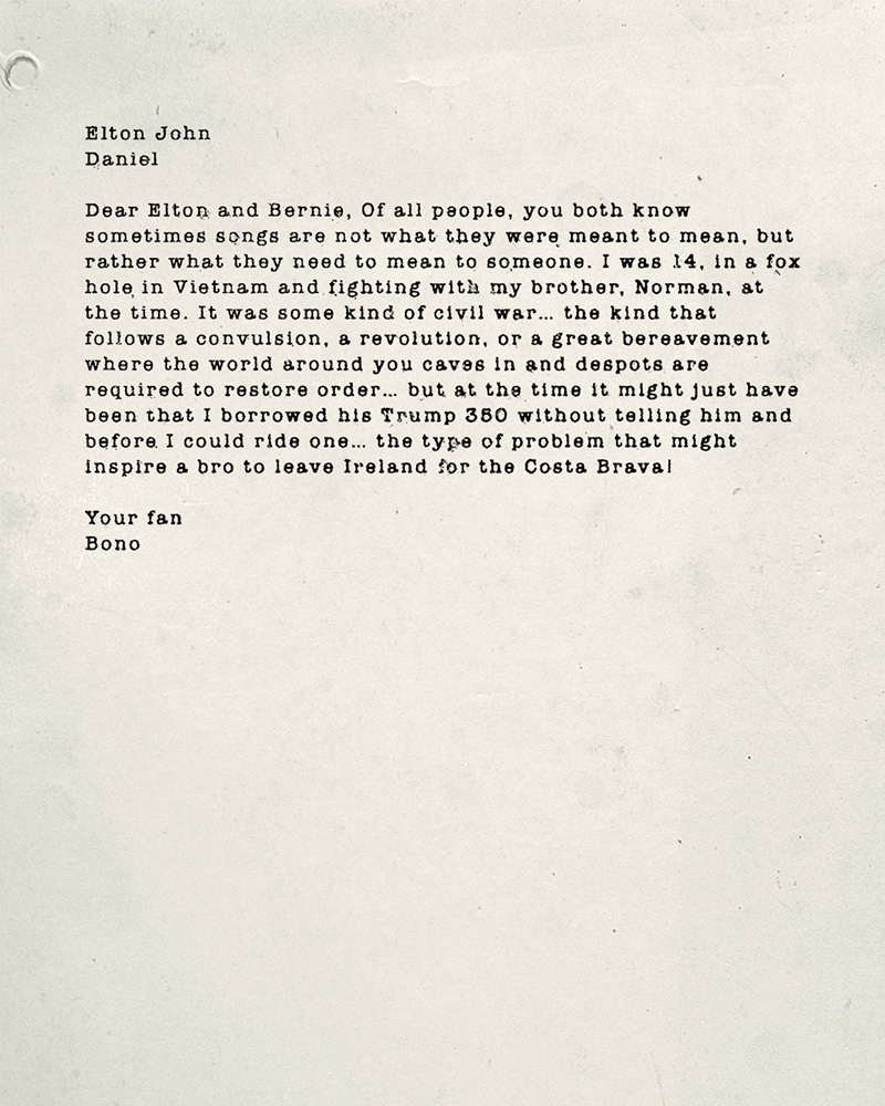 U2 News 60 Letters From Bono